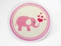 Preview: Glitzerbutton rosa Elefant