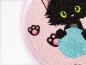 Preview: Glitzerbutton Katze