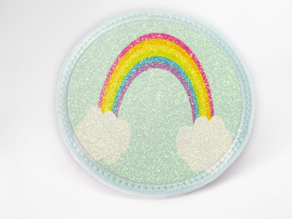 Glitzerbutton Regenbogen